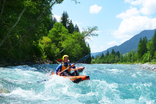 Sit on Top Kajak Rafting mit MAP-Erlebnis