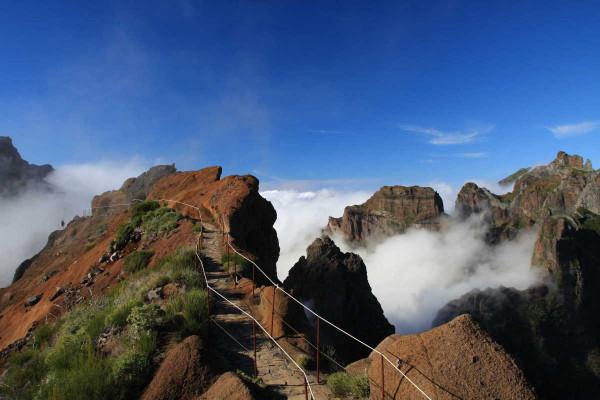 Die Königsetappe Madeiras, vom Pico Airieiro auf den Pico Ruivo.
