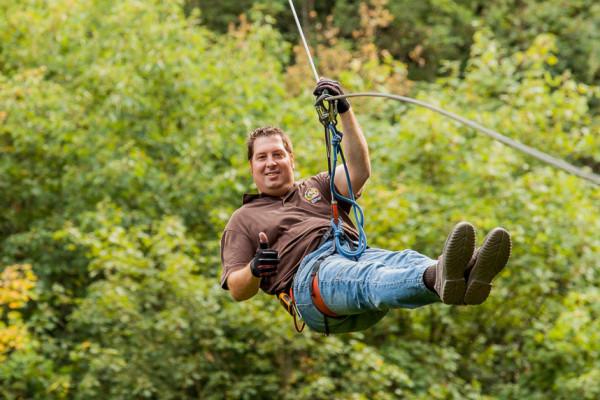 Zipline-Tour - Mega Zipline Nr. 1 EifelAdventures Berlingen