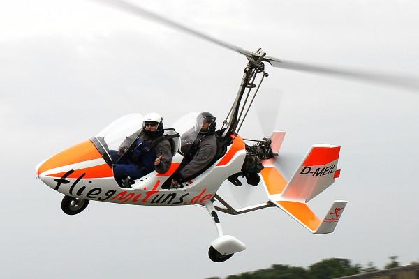 Gyrocopter in Marl Loemühle