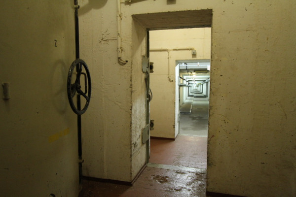 Zugangstunnel zum Bunker Garzau