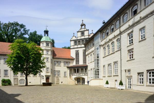 Innenhof des Schlosses, Foto: Südheide Gifhorn GmbH/Frank Bierstedt