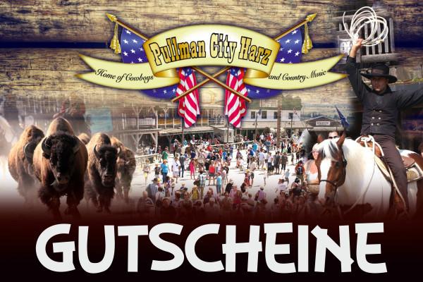 Schenken Sie Ihen liebsten jetzt einen Wertgutschein von Pullman City Harz!
