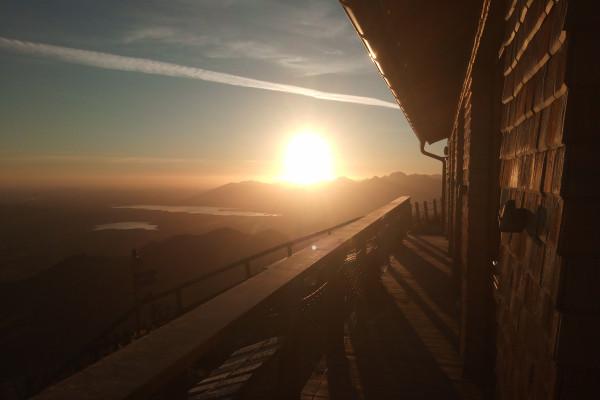 Sonnenaufgang auf der Ostlerhütte