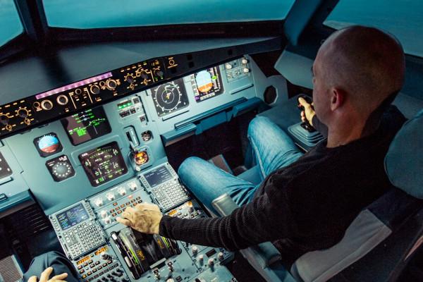 Take off beim Flugsimulator Erlebnis