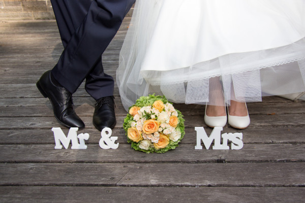 Ehepaar frisch verheiratet