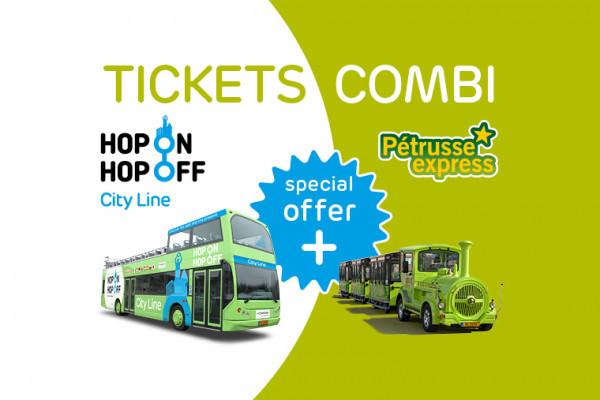 Kombi Ticket Hop On Hop Off und Pétrusse Express