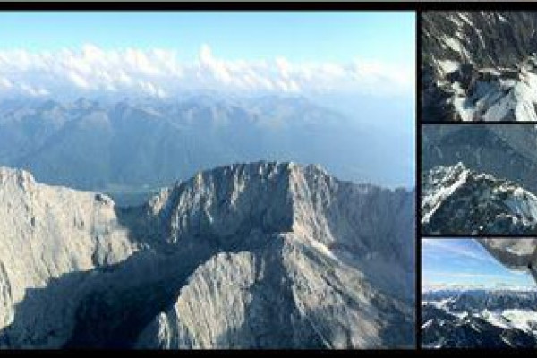 Rundflug ab Greding bis zur Zugspitze bei Garmisch-Patenkirchen