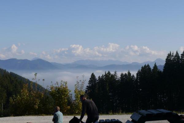wundervolle Aussicht vom Gipfel des Blombergs
