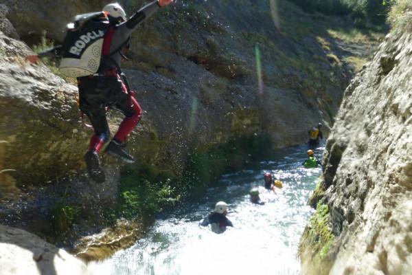 Springen Canyoning auf Mallorca