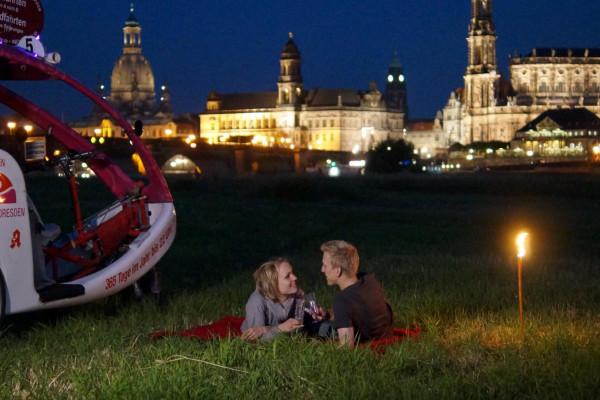 Für einen romantischen Abend mit der Rikscha in Dresden