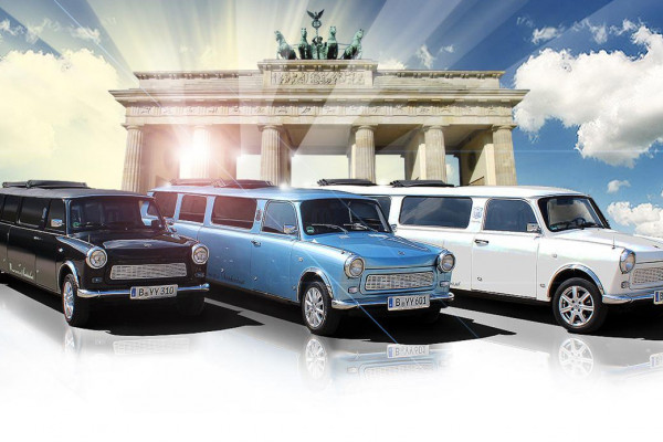 Die exklusiven Trabant Stretchlimousinen in Berlin. Trabi fahren einmal ganz anders.