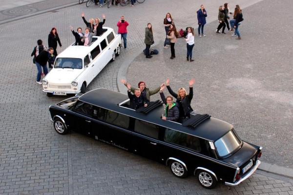 Große Erlebnis-Stadtrundfahrt in den Trabant Stretchlimousinen Berlin