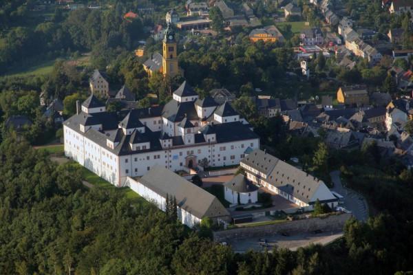 Schloss Augustusburg aus der Luft