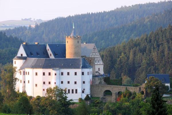 Außenansicht Burg Scharfenstein