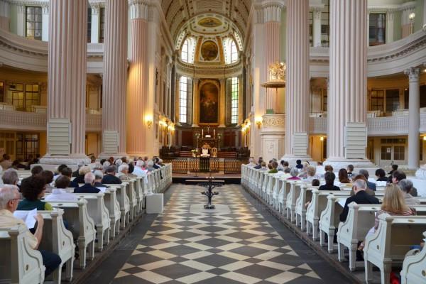 Die prachtvolle Nikolaikirche in Leipzig.