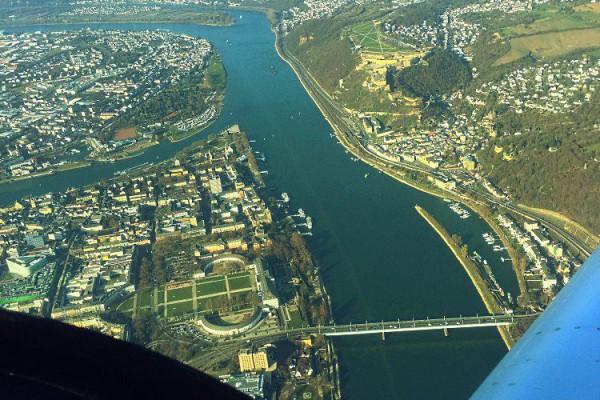 Rundflug und selber fliegen von Mainz zum Deutschen Eck