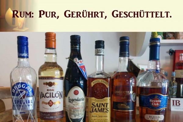 Tasting und Cocktailkurs in Köln: Rum