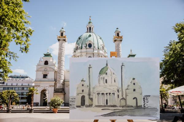 Paint Your Souvenir - Karlskirche