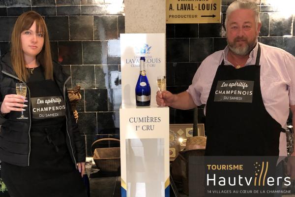 Clara et Florent du Champagne Laval-Louis