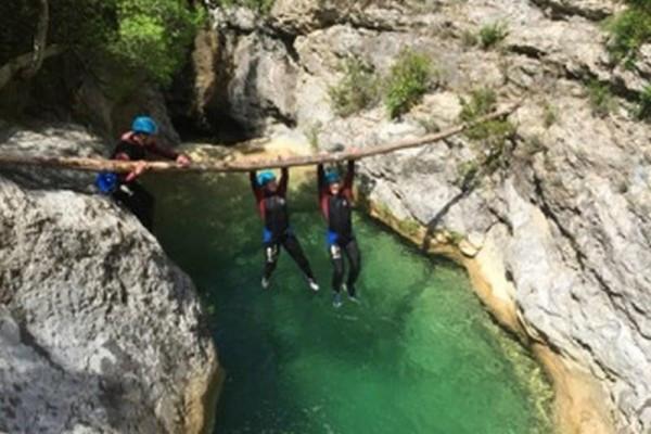 Azur Canyoning - Gorges du Loup saut