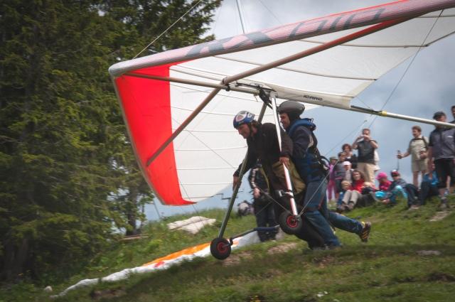 Drachenfliegen Schliersee - Tandemflug bei Munduuml;nchen