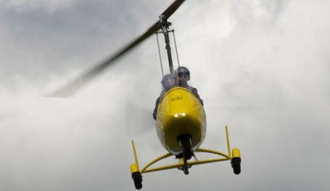 Gyrocopterflug über Mönchengladbach - Tragschrauber