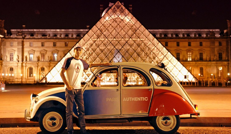 Stadt-Tour durch das nächtliche Paris im Citroen 2CV