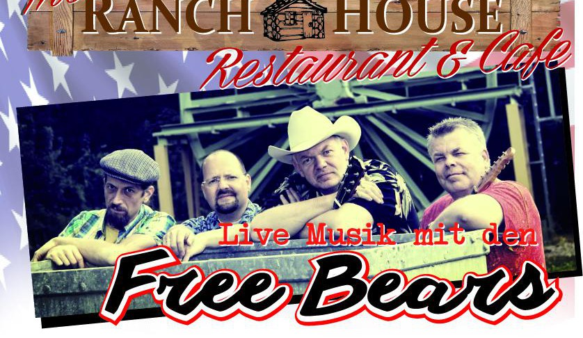 Live-Musik im Ranch House Cafe - The Free Bears in Issum