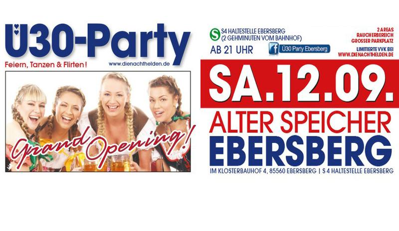 Ü30 Party im Alten Speicher Ebersberg Ebersberg
