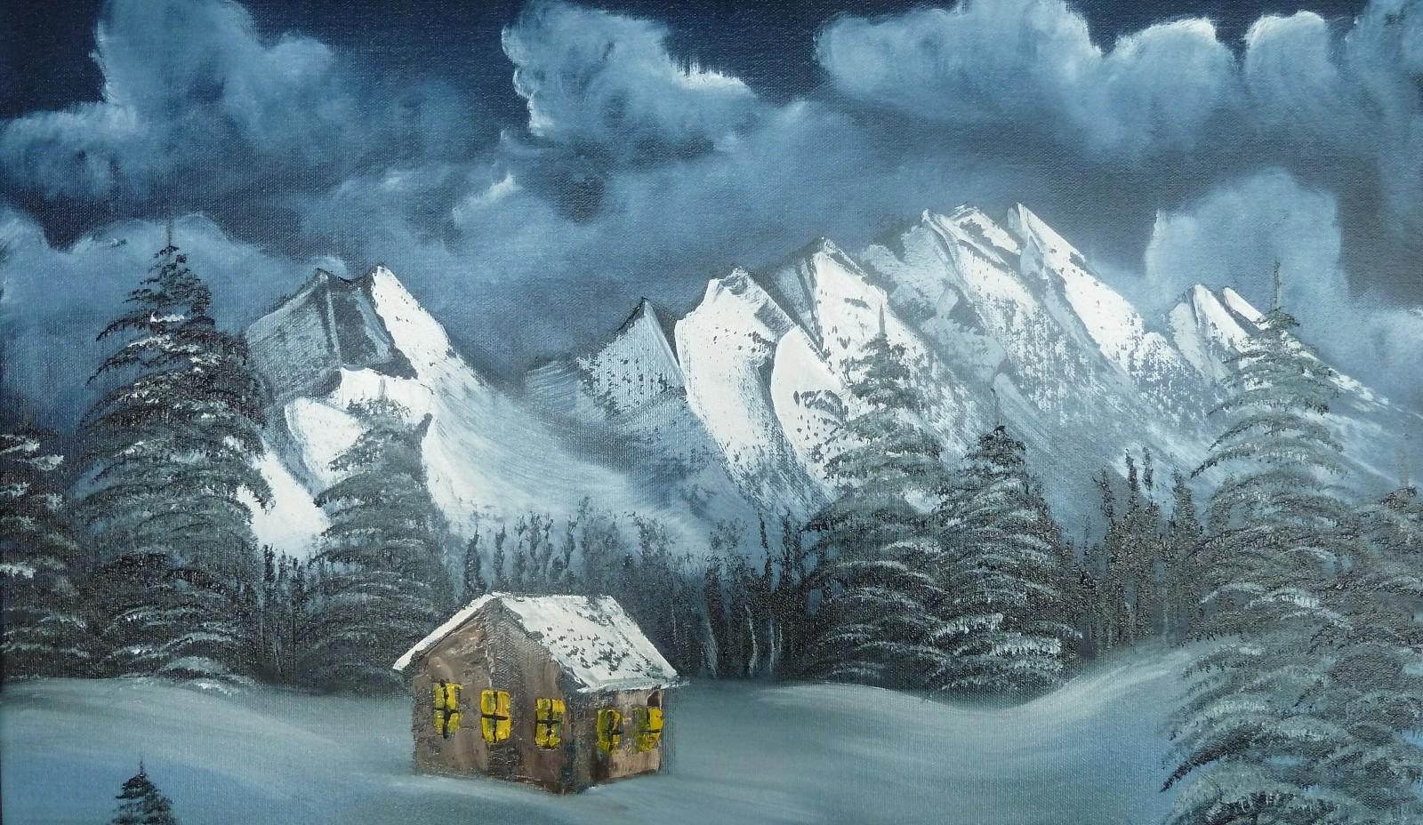 Malen in Böhl-Iggelheim - Landschaft-Malen wie Bob Ross