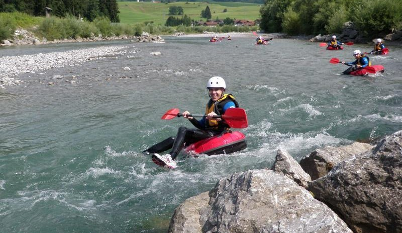 Tubing Iller - Wildwasser Tour Level 3 im Allgäu in Blaichach