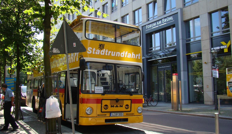 Stadtrundfahrt im Doppeldecker in Leipzig
