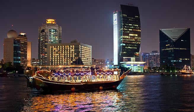 Romantische Dinner-Fahrt in Dubai - Dubai Creek