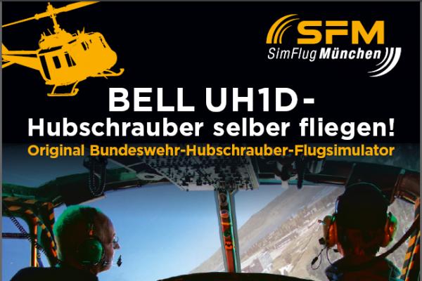 Flug Bell UH-1D Huey 90 Minuten in Haar