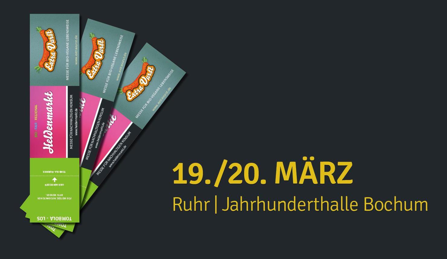 Heldenmarktundbio-vegane Sonderfläche ExtraVurst Ruhr 2016 in Bochum