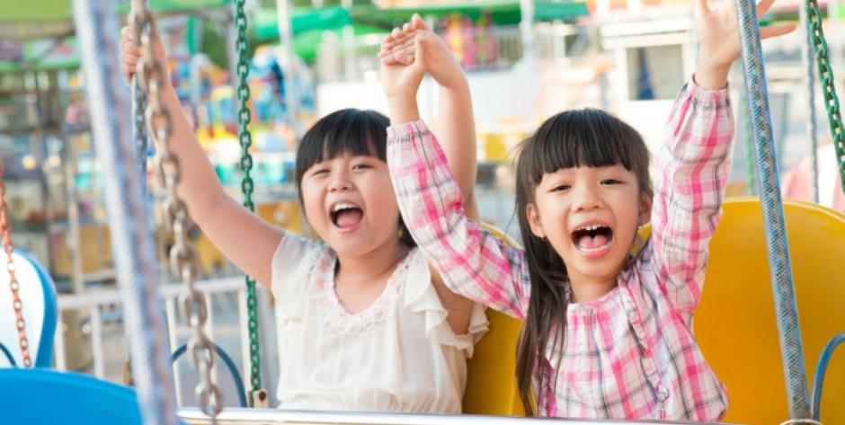 Freizeitpark-Besuch mit Kindern