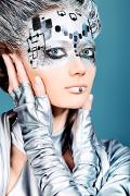 Fotoshooting mit spezielles Make-Up in Mannheim