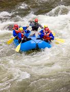 Rafting auf einem byerischen Fluss